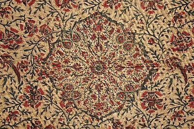 antique Kalamkari Indian textile paisley Persian Ghalamkar textile quilted quilt