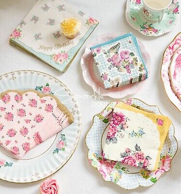 TRULY SCRUMPTIOUS TEA PARTY TABLEWARE RANGE - Vintage Wedding / Hen Decorations