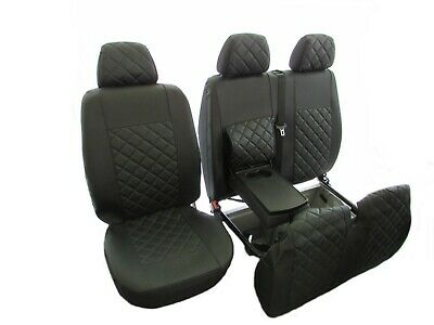 PEUGEOT BOXER,CITROEN JUMPER FIAT DUCATO 02-06 LHD GREY LEATHER Seat Covers 2+1