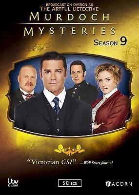 Murdoch Mysteries: Season 9 Nine (DVD, 2016, 5-Disc Set) New, 1st Class Shipping