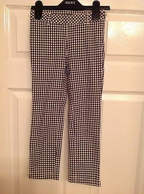 Esprit black and white check stretch skinny girl's trousers, 6 years, 116 cm