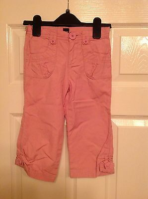 GAP pink cotton girl's cropped / capri trousers, 4 years