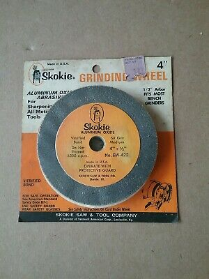 """Vintage Skokie Aluminum Oxide 4"""" Grinding Wheel-New Old Stock - Made in USA"""