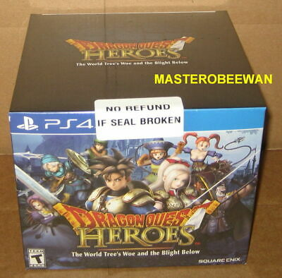 Dragon Quest Heroes Slime Collectors Edition PlayStation 4 PS4 New Sealed + DLC