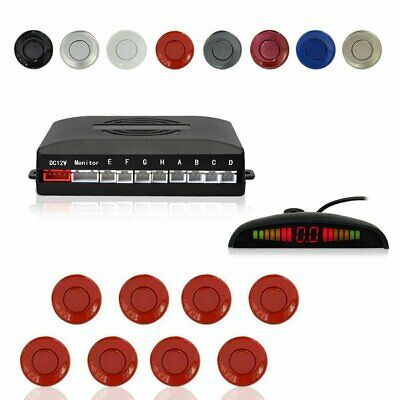 Car LED Parking Sensors 8-Sensor Front Rear Detector Reversing Assistance Red