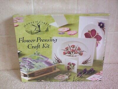House Of Crafts Flower Pressing Craft Kit Gift Set With Wooden Press