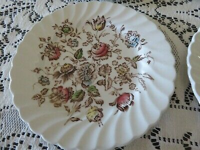 Antique Johnson Brothers Staffordshire Bouquet B&B Plates 6 Plates MORE Avail
