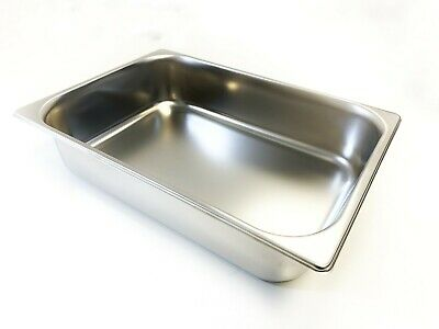 Gelato Ice Cream Wide 5.5 Liter Pan, Stainless Steel, Made in Italy (Two Pack)