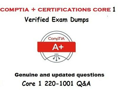 CompTIA A+ Certification : Core 1 220-1001 verified Exam Q&A