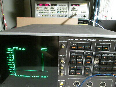 Marconi 6500 Scalar Network Analyzer DC-126 GHz 3 Channel Programmable WORKS!