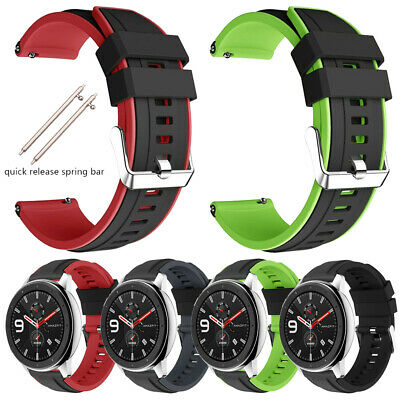 22mm Quick Release Silicone Rubber Watch Strap Wristband Band Replacement Belt