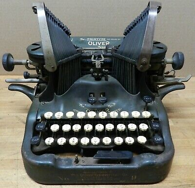 1920 Oliver visible typewriter model NO 9 832422 needs repair and service