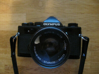 Olympus OM-1 Black w/Zuiko 50mm F1.8 Lens Film Tested Works Great No Light Leaks