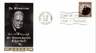 1965 #440 Sir Winston Churchill FDC with Jackson Chickering cachet unaddressed