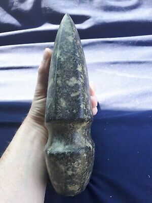 """Authentic 8 1/2 """" 3/4 Groove Axe with Fluting found in Ogle Co. Illinois"""