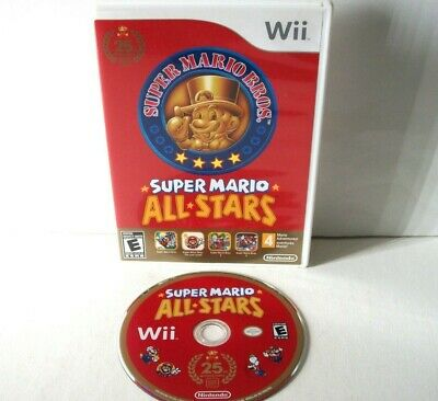 Super Mario All-Stars (Nintendo Wii) First Print Game & Case Bros Games 25th