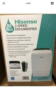 70 Pint S-Speed Dehumidifiers by Hisense
