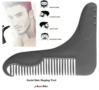 MEN BEARD STYLING and Shaping Template Flexible Trimming