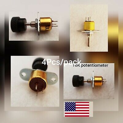 4Pcs 10K Potentiometer with Knobs