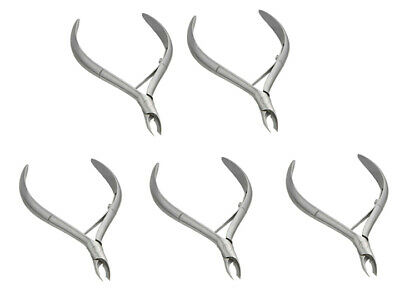 5pc No.14 1/4 Jaw Cuticle Nipper Nail Manicure Tool Stainless Steel Cobalt Round