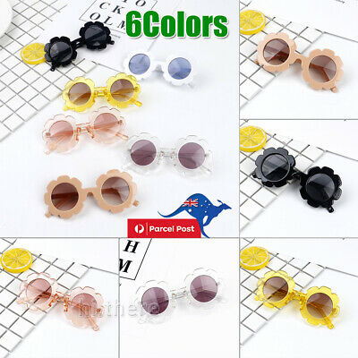 Fashion Girls Baby Retro Flower Kids Sunglasses Anti UV Children Sunglasses AU