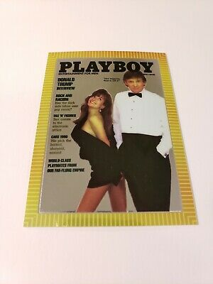 1995 Playboy Chromium Cover Card Donald Trump Cover March Edition Vol.37 #3