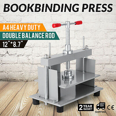 Steel Bookbinding Press A4 Paper Durable Book Press 1500kg Power ON SALE GREAT