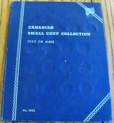 Canadian Small Cent Collection 1920 - 1972 48 Copper Coins In Book No. 9062