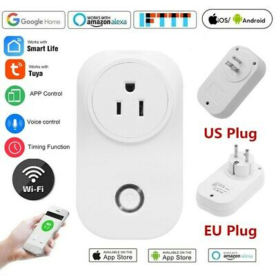 WiFi Smart Power Plug Wall Socket Voice Remote Control Amazon Google Home Switch