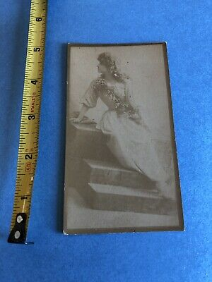 1880's Gail & Ax's Navy Tobacco Large Actress Card - Nice Clean Photo On Front