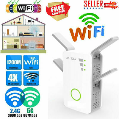 1200Mbps WiFi Range Extender Repeater Wireless Amplifiers Router Signal Boosters