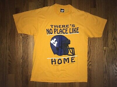 WVU Mountaineers T Shirt Vintage 1980s Large No Place Like Home West Virginia