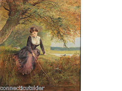 Daydreaming by Englishman George Parsons Norman,Oil Painting,Genre,Landscape