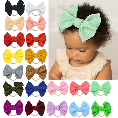 Hairband Head Wrap Kids Toddler Baby Stretch Turban Girls Bow Knot Headband
