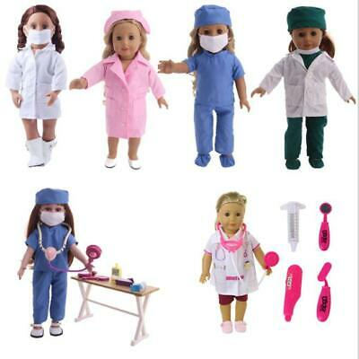 18 inch girl doll clothes doll accessories doctor clothes nurse clothes