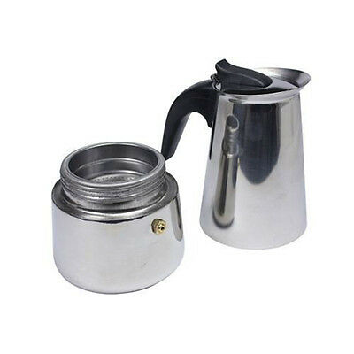 Terrific 2-Cup Percolator Herd Top Kaffeemaschine Espresso Edelstahl Top HN