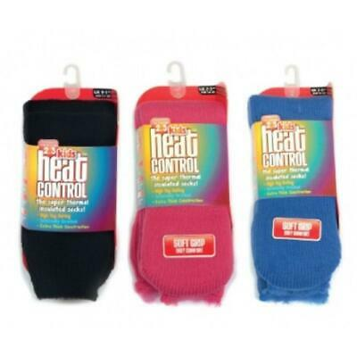 Heat Control Kids Thermal Socks Choice of Colours Sizes 9-1 and 2-5