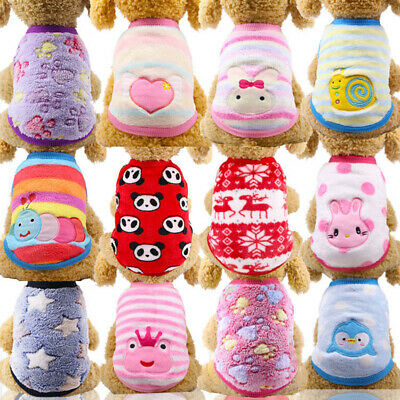 Winter Dog Clothes Vest Soft Fleece Small Dog Shirt Warm Puppy Clothing Outfits