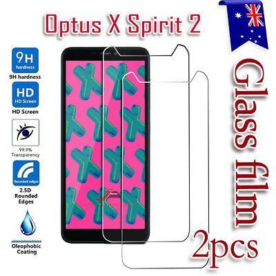2X Optus X Spirit 2 Tempered Glass Screen Protector Scratch Resist Film Guard