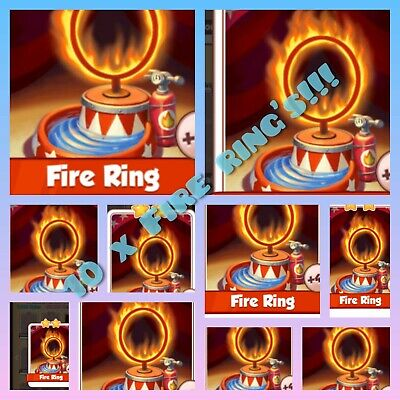 FIRE RING x10. Coin Master cards.  Get cards IMMEDIATELY!
