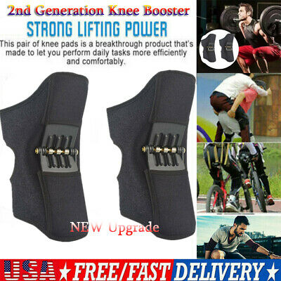 2nd Generation Power Lift Joint Support Knee Brace Pads Rebound Spring Force US