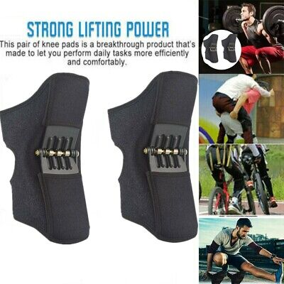 NEW Power Lift Joint Support Knee Brace Pads Rebound Spring Force 2nd Generation