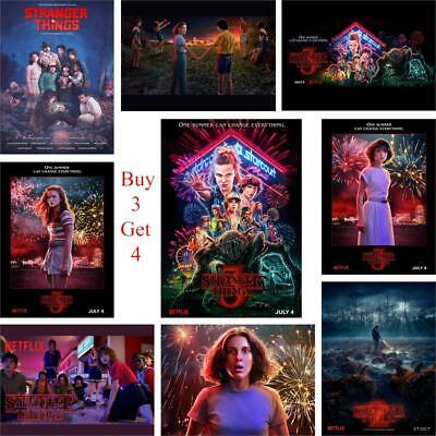 Stranger Things Season 3 Posters 13 Characters Glossy Paper Prints New Posters