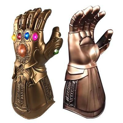 Avenge 3 Infinity War Infinity Gauntlet LED Cosplay Thanos Gloves W LED Light FO