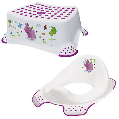 Keeeper 2-teiliges Set HIPPO Schemel einstufig & WC-Sitz Toilettensitz weiß TOP