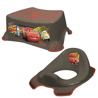 Keeeper 2-teiliges Badeset Schemel und WC-Sitz Toilettensitz Cars Asphalt TOP