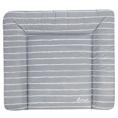 Julius Zöllner Wickelauflage Softy 75 x 85 Grey Stripes TOP