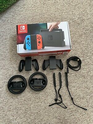 Nintendo Switch Box And Accessories