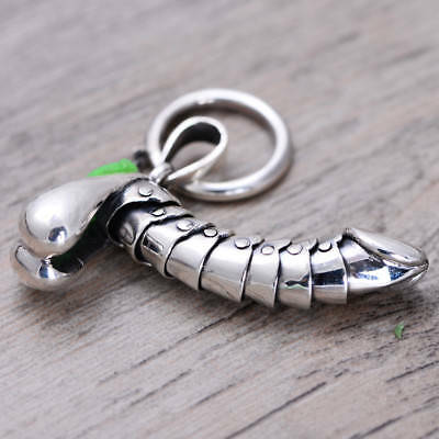 925 Sterling Silver penis style Charm Pendant toy P1700