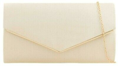 Cream Clutch Bag Ivory Coloured Satin Evening Bag Ladies Shoulder Bag Wedding